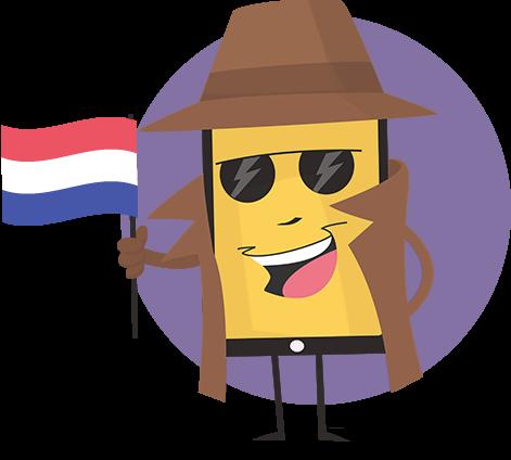vervals mijn bel-id mascotte Nederland Dutsch nl-NL
