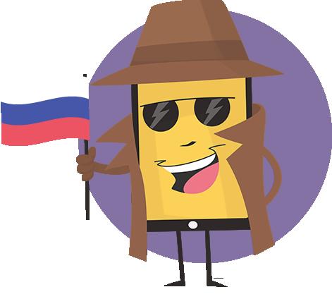 фигурка для ложного номера вызывающего абонента Русский Russia ru-RU